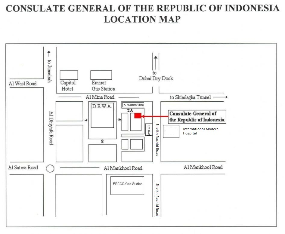 Indonesian Consulate Location Map